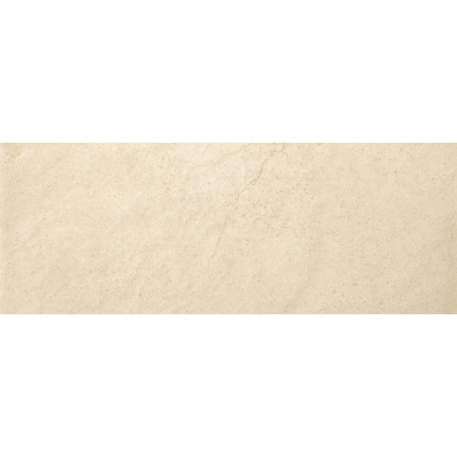 Emser St Moritz Ivory Porcelain Bullnose Tile (Common: 3-in x 12-in; Actual: 2.87-in x 11.77-in)