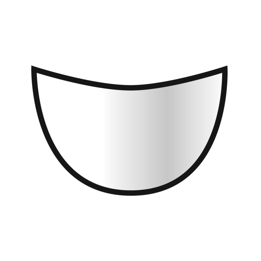 Emser Lucerne Pilatus Porcelain V Cap Tile (Common: 1-in x 1-in; Actual: 1.1-in x 1.1-in)
