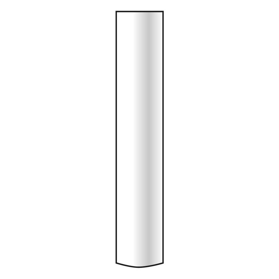Emser LUCERNE Pilatus Porcelain Quarter Round Tile (Common: 1-in x 7-in; Actual: 1-in x 7-in)