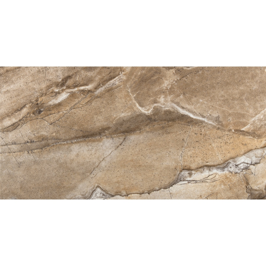 Emser Eurasia 6-Pack Noce Porcelain Floor and Wall Tile (Common: 12-in x 24-in; Actual: 11.79-in x 23.79-in)