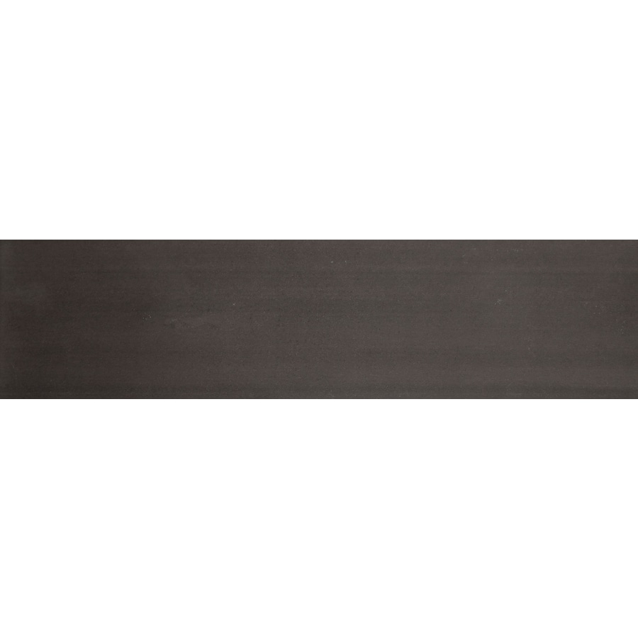 Emser Perspective 10-Pack Black Porcelain Floor and Wall Tile (Common: 6-in x 24-in; Actual: 5.92-in x 23.62-in)