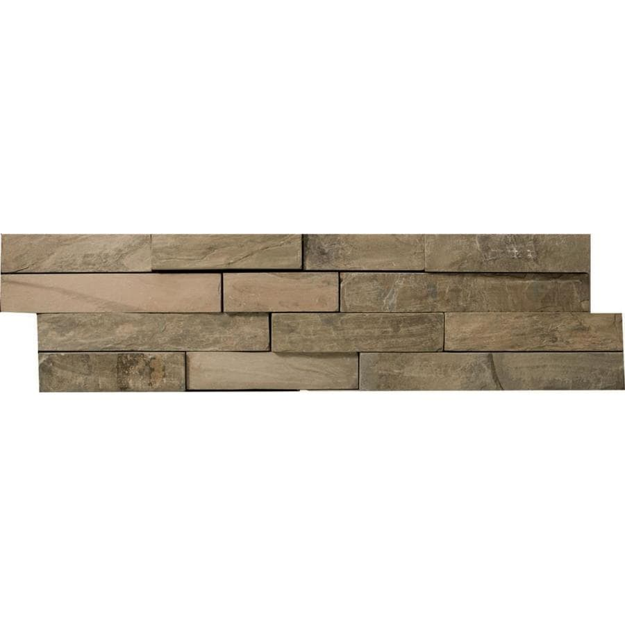 Emser 4-Pack Rustic Gold Slate Floor and Wall Tile (Common: 6-in x 24-in; Actual: 6-in x 24-in)