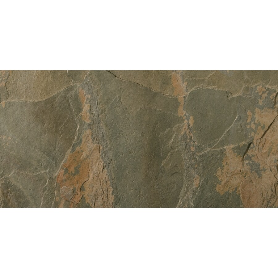 Emser 5-Pack Rustic Gold Slate Floor and Wall Tile (Common: 12-in x 24-in; Actual: 11.79-in x 23.79-in)