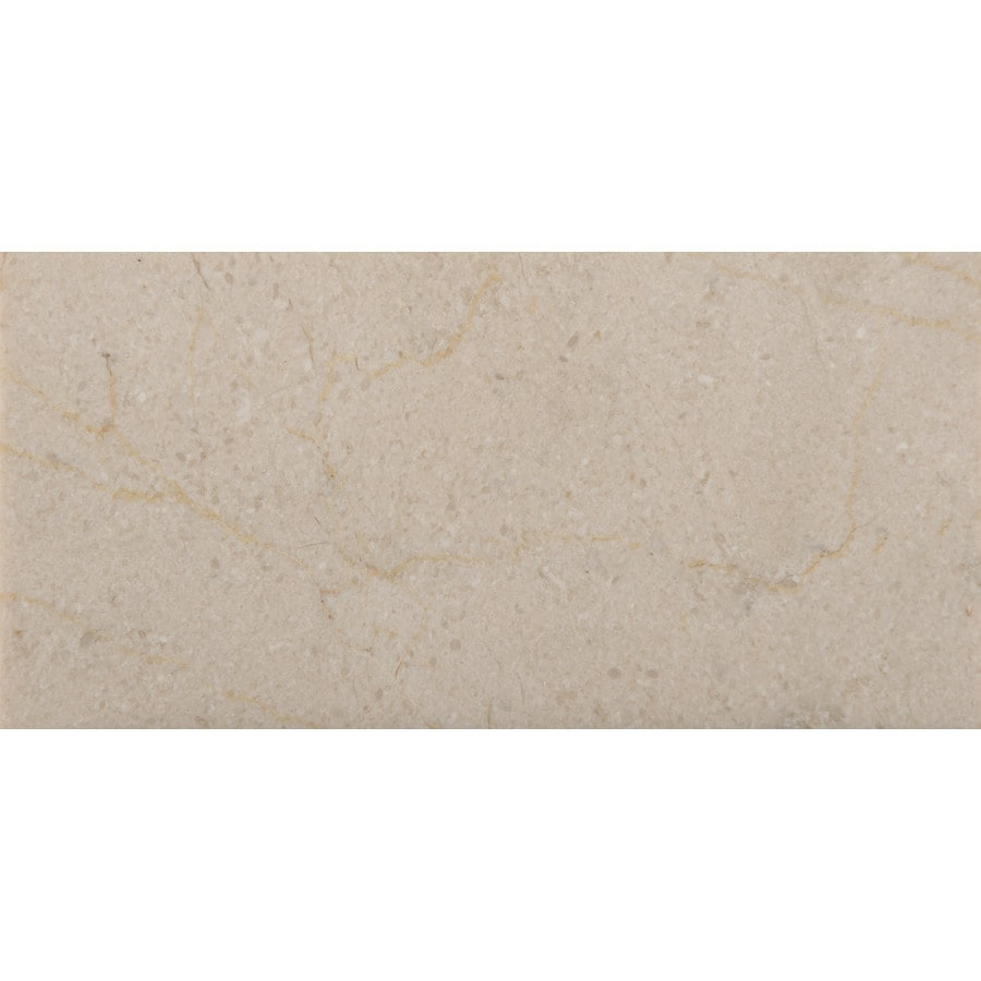 Emser CREMA MARFIL 40-Pack Crema Marfil Classico Marble Floor and Wall Tile (Common: 3-in x 6-in; Actual: 3-in x 6-in)