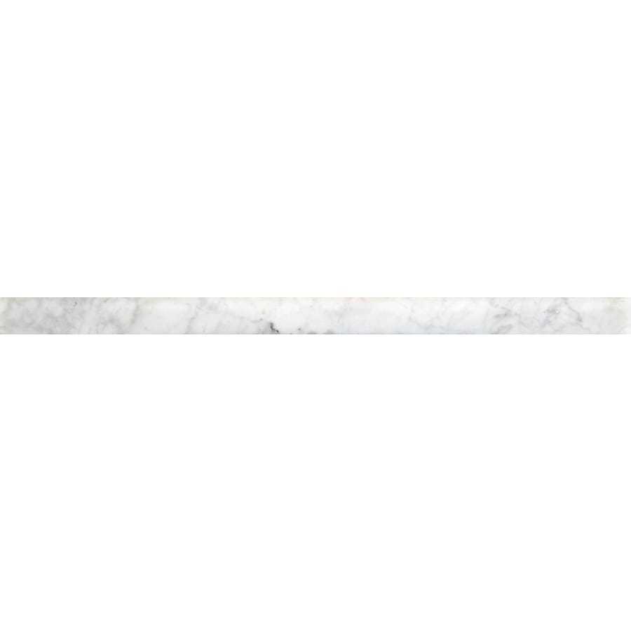 Emser Bianco Gioia Nantes Marble Pencil Liner Tile (Common: 1-in x 12-in; Actual: 12-in x 1-in)