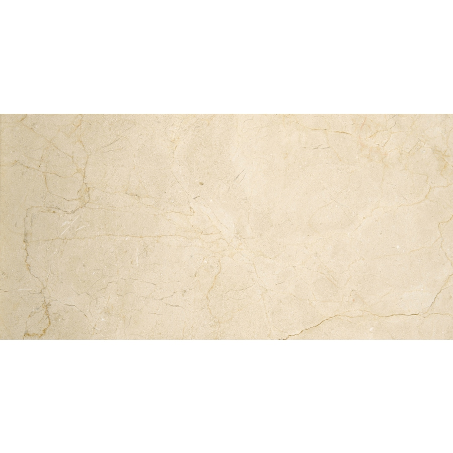 Emser Crema Marfil Classico Marble Floor and Wall Tile (Common: 4-in x 8-in; Actual: 4-in x 8-in)