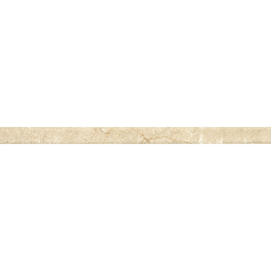 Emser Crema Marfil Classico Marble Pencil Liner Tile (Common: 1-in x 12-in; Actual: 12-in x 1-in)