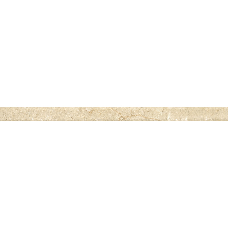 Emser CREMA MARFIL Crema Marfil Classico Natural Stone Marble Pencil Liner Tile (Common: 1-in x 12-in; Actual: 1-in x 12-in)