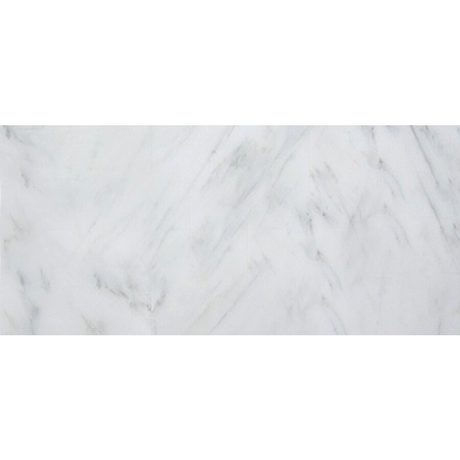 Emser 6-Pack Winter Frost Marble Floor and Wall Tile (Common: 12-in x 24-in; Actual: 12-in x 24-in)