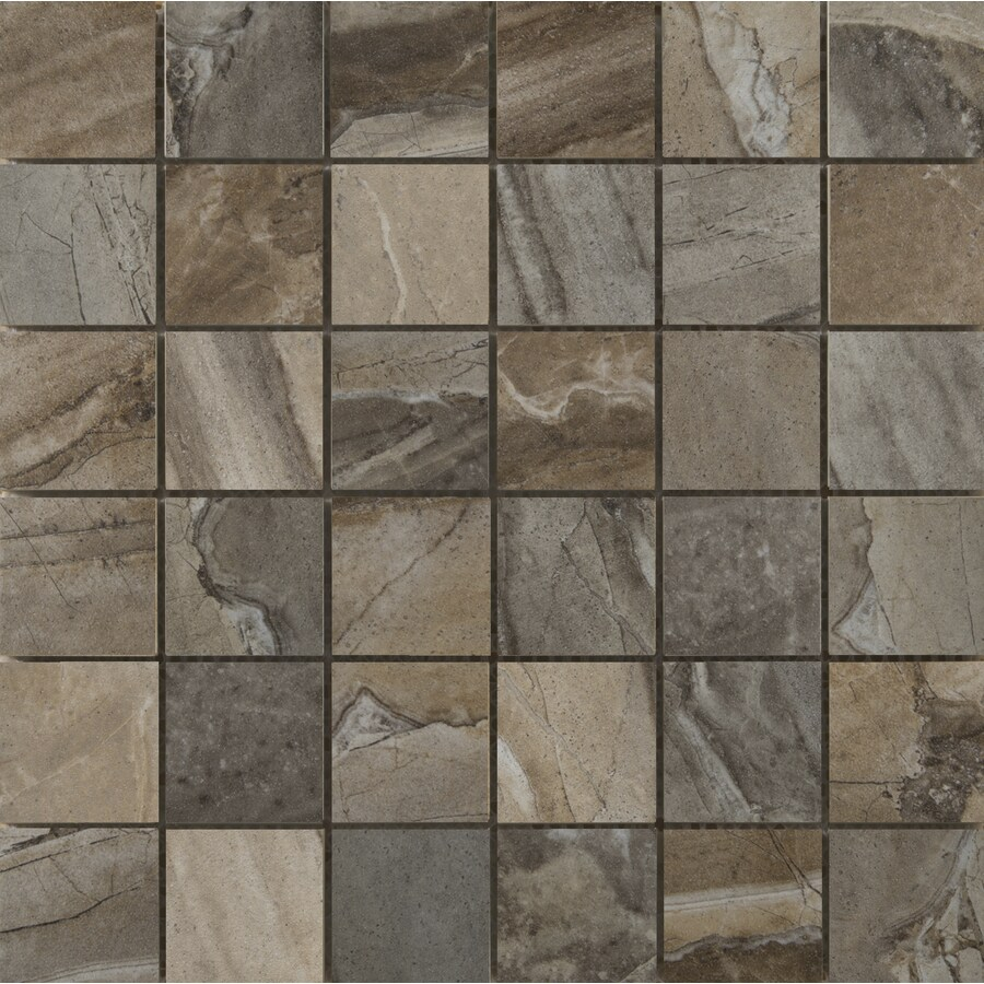 Emser Eurasia 9-Pack Mosaic Blend Uniform Squares Mosaic Porcelain Floor and Wall Tile (Common: 13-in x 13-in; Actual: 13.1-in x 13.1-in)