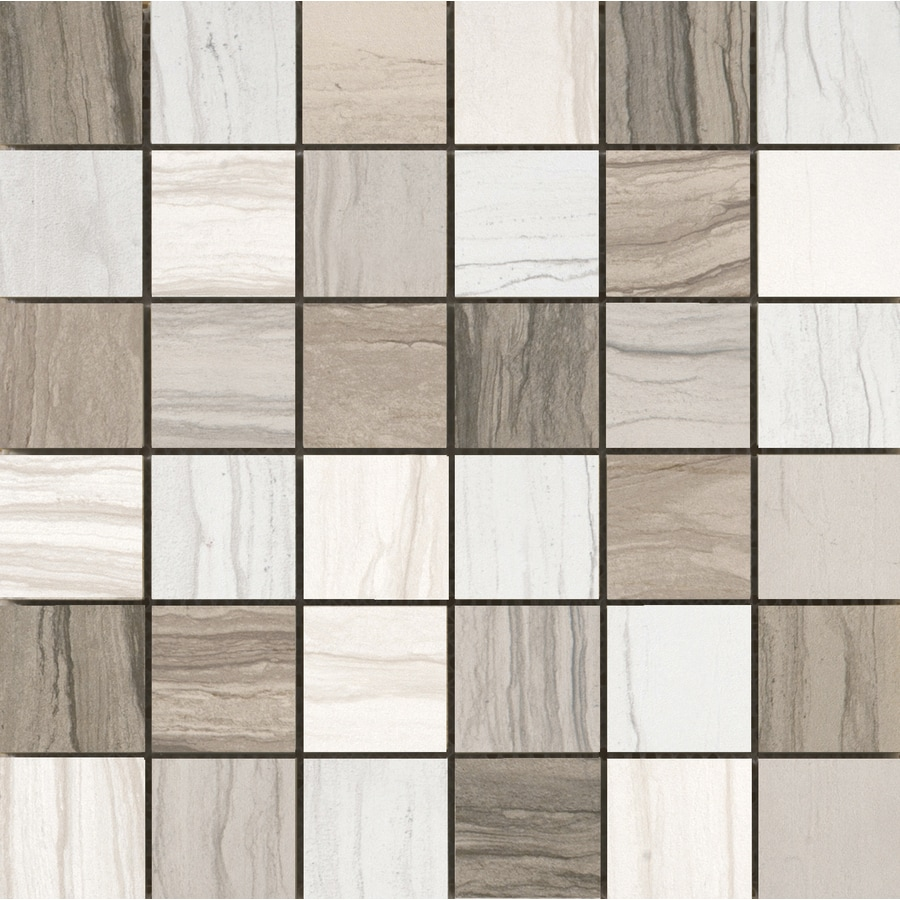 Emser Motion 10-Pack Mosaic Blend Uniform Squares Mosaic Porcelain Floor and Wall Tile (Common: 13-in x 13-in; Actual: 13.1-in x 13.1-in)