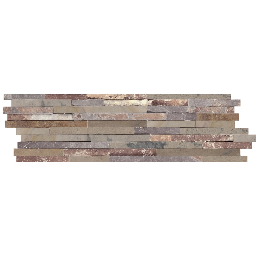 Emser 4-Pack Autumn Lilac Slate Floor and Wall Tile (Common: 6-in x 24-in; Actual: 5.89-in x 23.89-in)