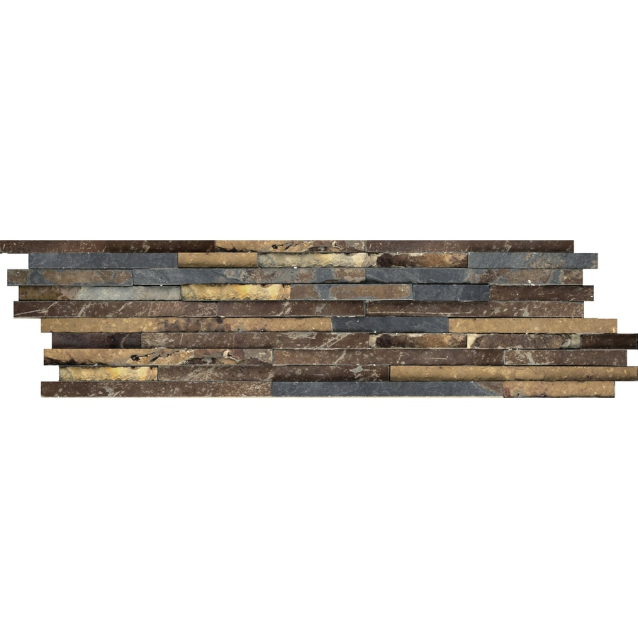 Emser 4 Pack Rustic Gold Slate Floor And Wall Tile Common 6