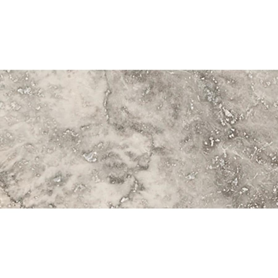 Emser TRAV ANCIENT TUMBLED 48-Pack Silver Travertine Floor and Wall Tile (Common: 4-in x 8-in; Actual: 4-in x 8-in)