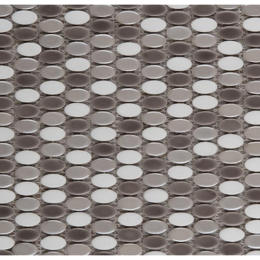 Shop emser confetti oval freddo blend glazed porcelain mosaic emser confetti oval freddo blend glazed porcelain mosaic squares floor tile actual 1181 dailygadgetfo Choice Image