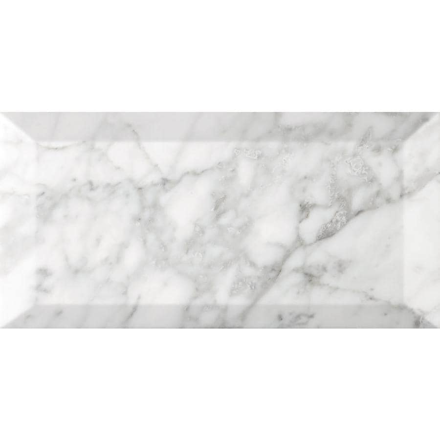Emser BIANCO GIOIA 40-Pack Bianco Gioia Nantes Marble Floor and Wall Tile (Common: 3-in x 6-in; Actual: 3-in x 6-in)