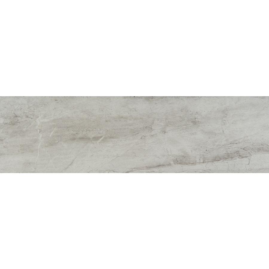 Emser Eurasia Bianco Porcelain Bullnose Tile (Common: 3-in x 13-in; Actual: 2.95-in x 12.99-in)