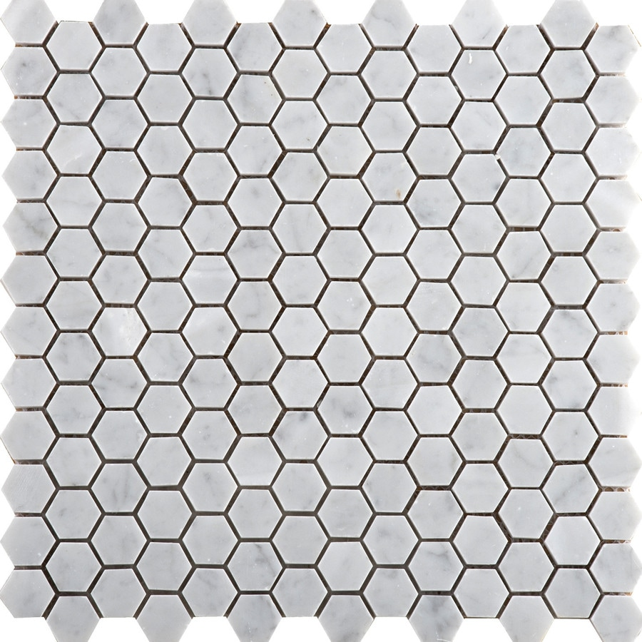 Emser Bianco Gioia Nantes Marble Border Tile (Common: 12-in x 12-in; Actual: 12-in x 12-in)