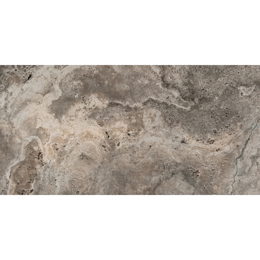 Emser Homestead 6-Pack Gray Porcelain Floor and Wall Tile (Common: 12-in x 24-in; Actual: 11.79-in x 23.79-in)