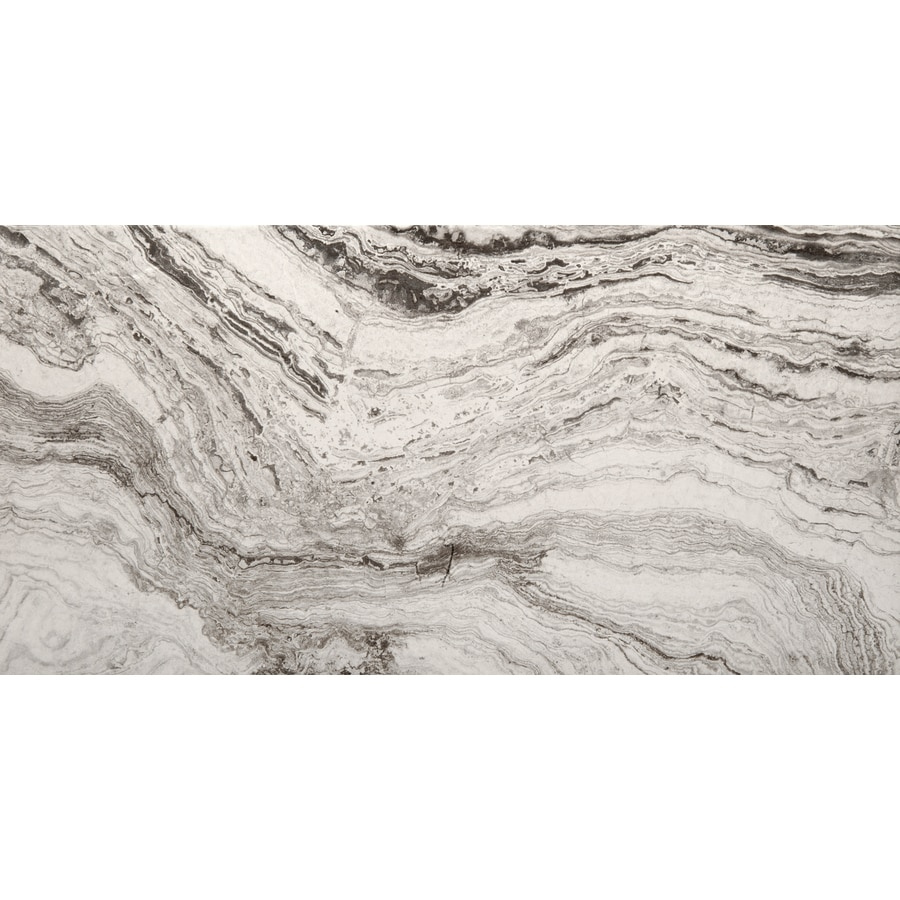 Emser Pergamo 6-Pack Bianco Porcelain Floor and Wall Tile (Common: 12-in x 24-in; Actual: 23.62-in x 11.81-in)