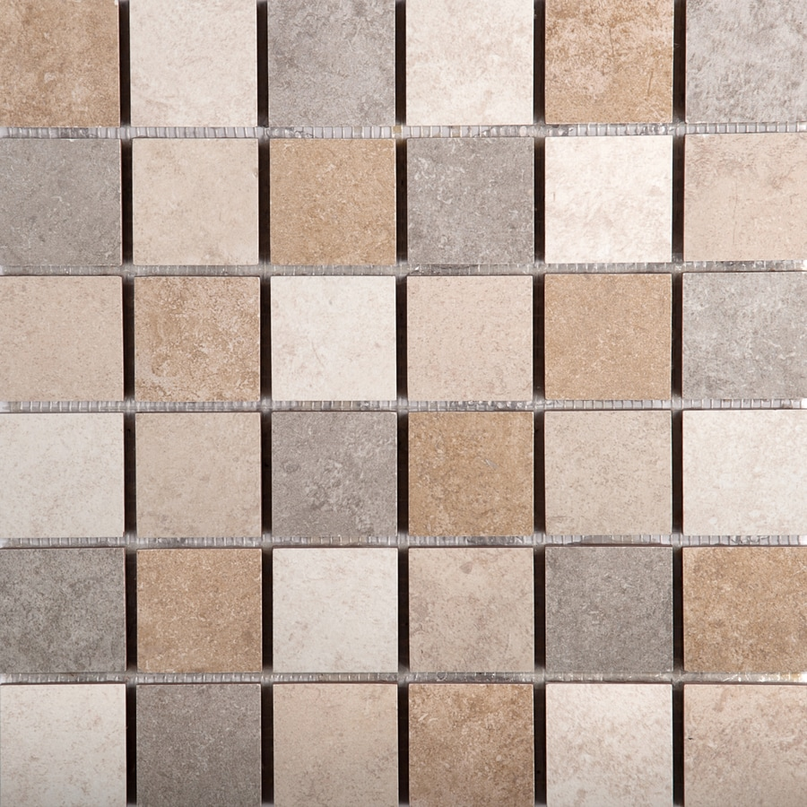 Emser Baja 10-Pack Blend Uniform Squares Mosaic Ceramic Floor and Wall Tile (Common: 13-in x 13-in; Actual: 13.11-in x 13.11-in)