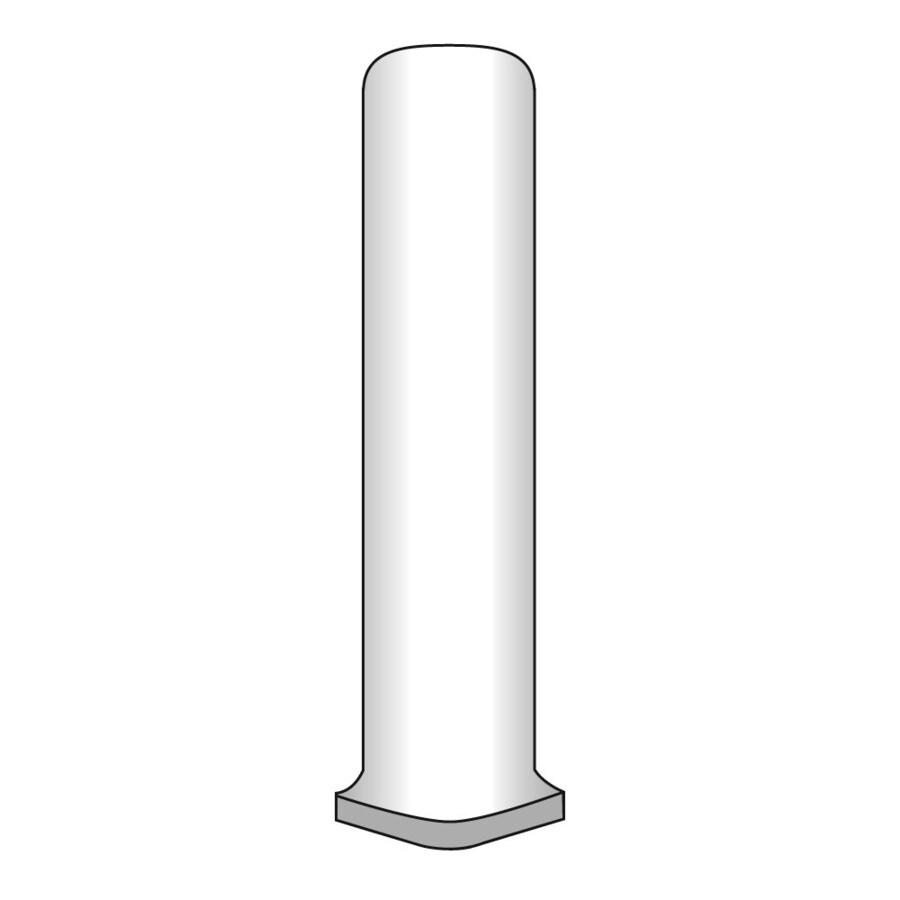 Emser EURASIA Bianco Porcelain Cove Corner Tile (Common: 1-in x 6-in; Actual: 1-in x 6-in)