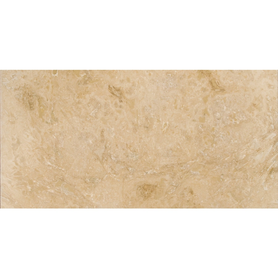 Emser Pendio Beige Travertine Floor and Wall Tile (Common: 12-in x 24-in; Actual: 12-in x 24-in)