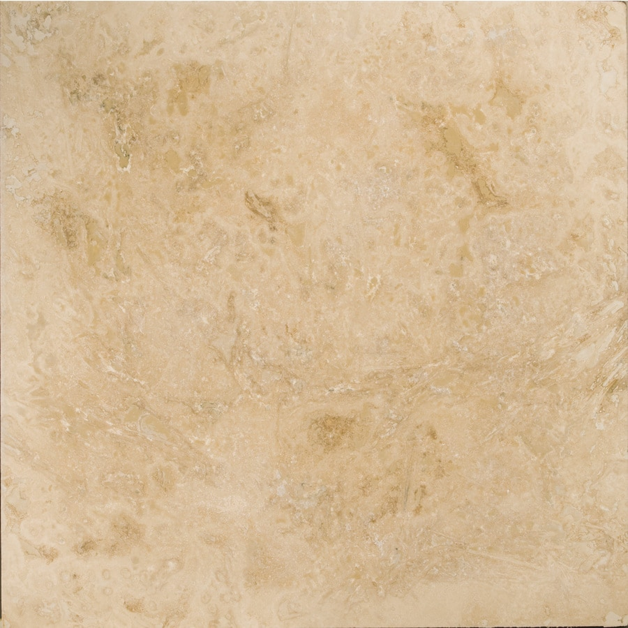 Shop emser pendio beige travertine floor and wall tile for Ceramic flooring