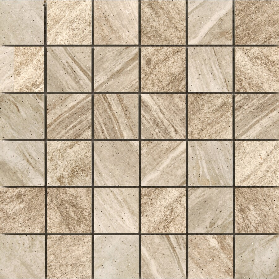 Emser Melbourne 10-Pack Bayside Uniform Squares Mosaic Ceramic Floor and Wall Tile (Common: 13-in x 13-in; Actual: 13.11-in x 13.11-in)