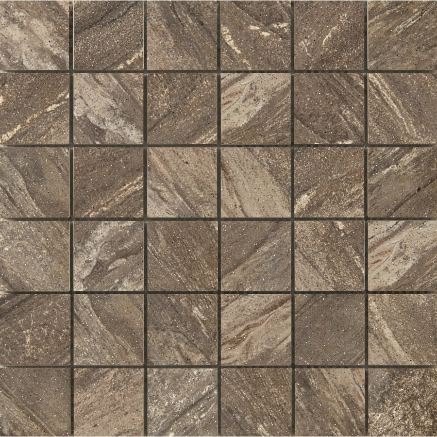 Emser Melbourne 10-Pack Melton Uniform Squares Mosaic Ceramic Floor and Wall Tile (Common: 13-in x 13-in; Actual: 13.11-in x 13.11-in)