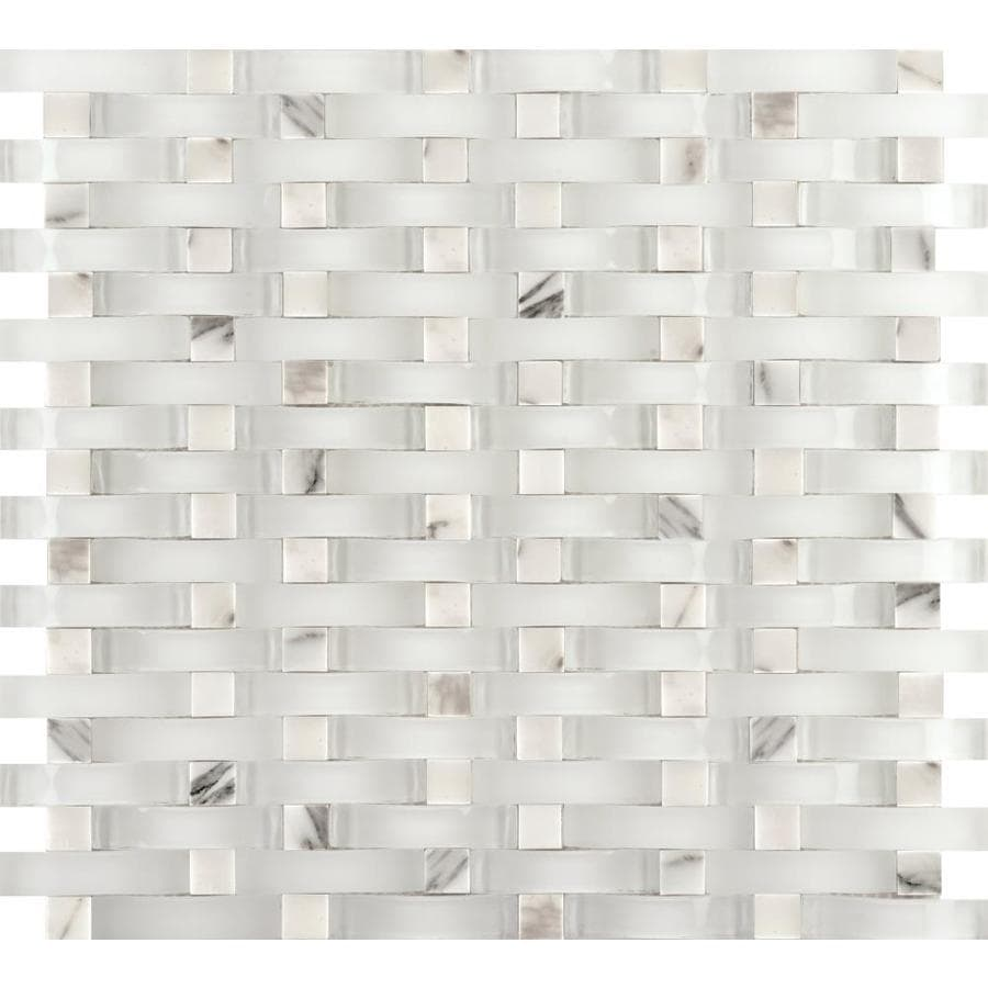 Emser Lucente 10 Pack Ambrato Stone And Gl Border Tile Common 12