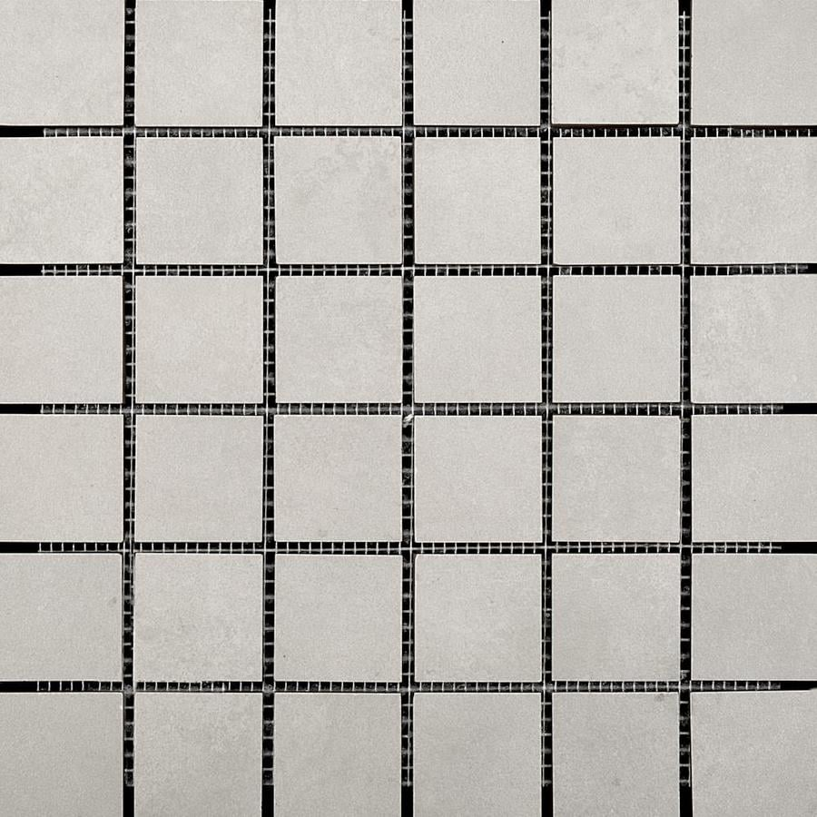 Emser Stadium 10-Pack Concrete Uniform Squares Mosaic Ceramic Floor and Wall Tile (Common: 13-in x 13-in; Actual: 13.11-in x 13.11-in)