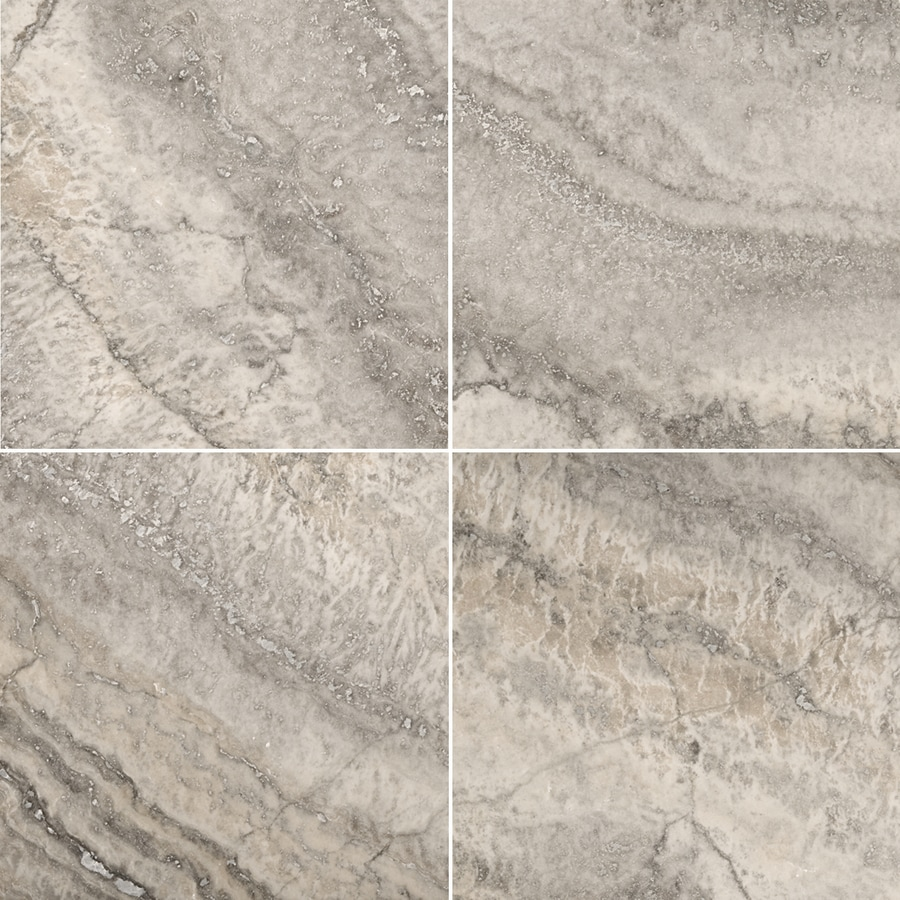 Shop Emser Silver Travertine Floor And Wall Tile Common