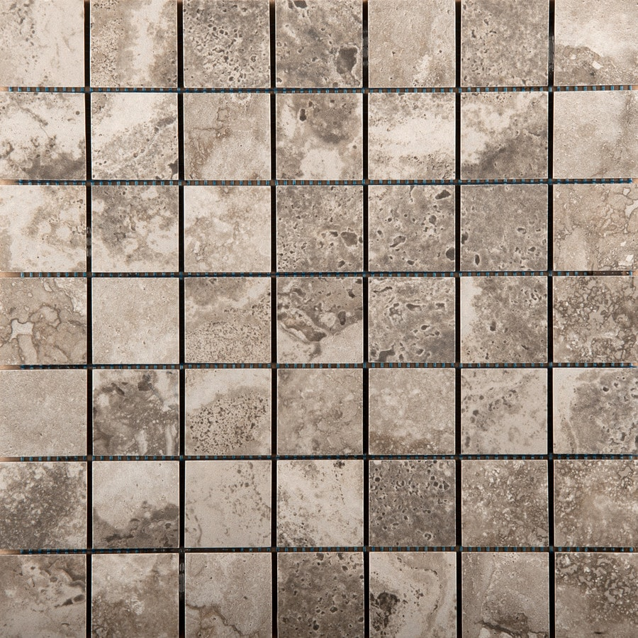 Emser Homestead Gray Porcelain Border Tile (Common: 13-in x 13-in; Actual: 13.07-in x 13.07-in)