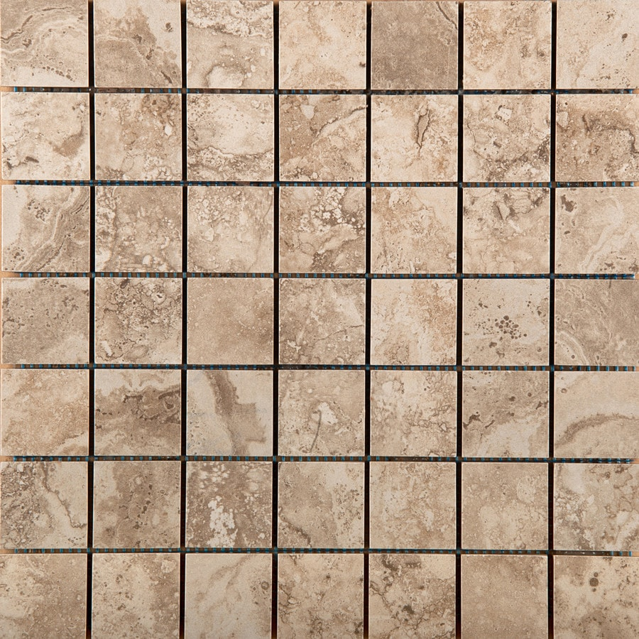 Emser Homestead Beige Porcelain Border Tile (Common: 13-in x 13-in; Actual: 13.07-in x 13.07-in)