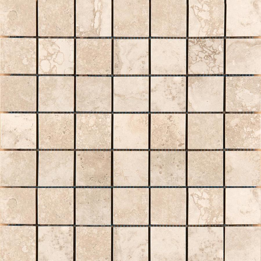 Emser Homestead Cream Porcelain Border Tile (Common: 13-in x 13-in; Actual: 13.07-in x 13.07-in)