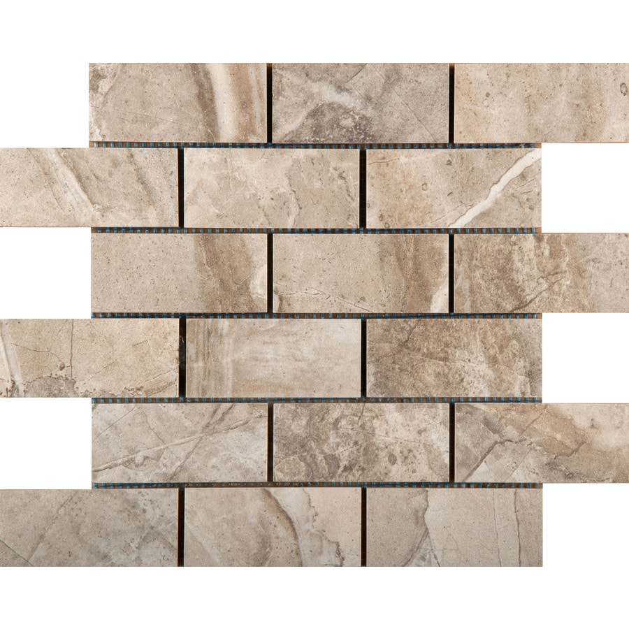 Emser Eurasia Cafe Porcelain Border Tile (Common: 13-in x 13-in; Actual: 13.07-in x 13.07-in)