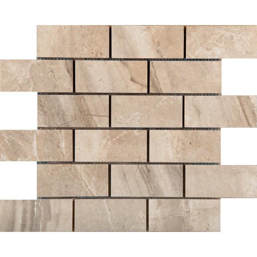 Emser Eurasia Chiara Porcelain Border Tile (Common: 13-in x 13-in; Actual: 13.07-in x 13.07-in)