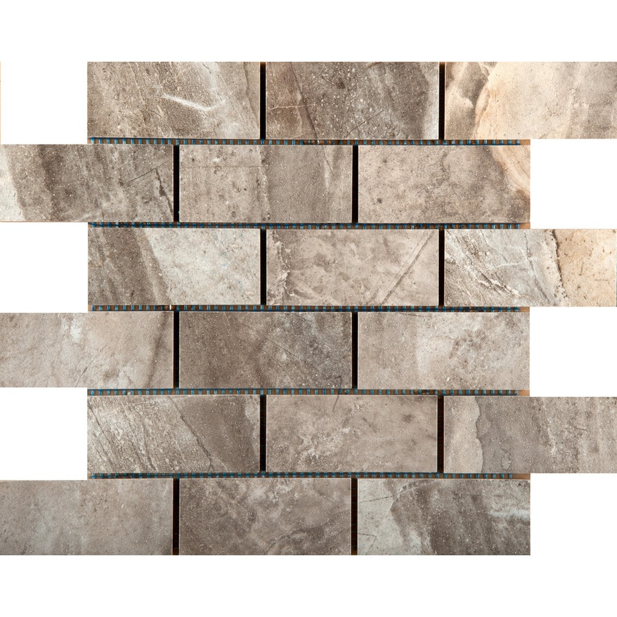 Emser Eurasia Grigio Porcelain Border Tile (Common: 13-in x 13-in; Actual: 13.07-in x 13.07-in)