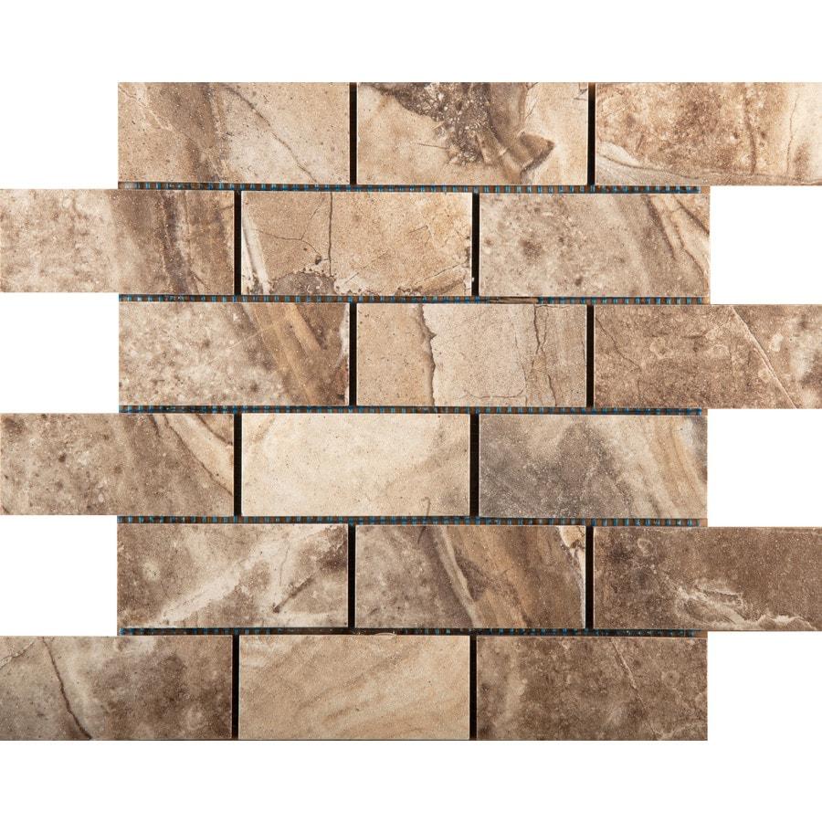 Emser Eurasia Noce Porcelain Border Tile (Common: 13-in x 13-in; Actual: 13.07-in x 13.07-in)