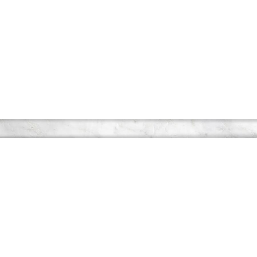 Emser Winter Frost Marble Pencil Liner Tile (Common: 1-in x 12-in; Actual: 12-in x 1-in)