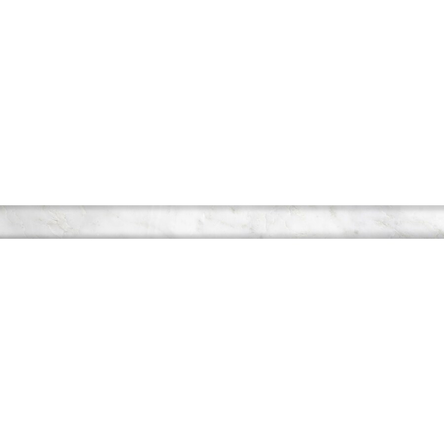 Emser WINTER FROST Natural Stone Marble Pencil Liner Tile (Common: 1-in x 12-in; Actual: 1-in x 12-in)