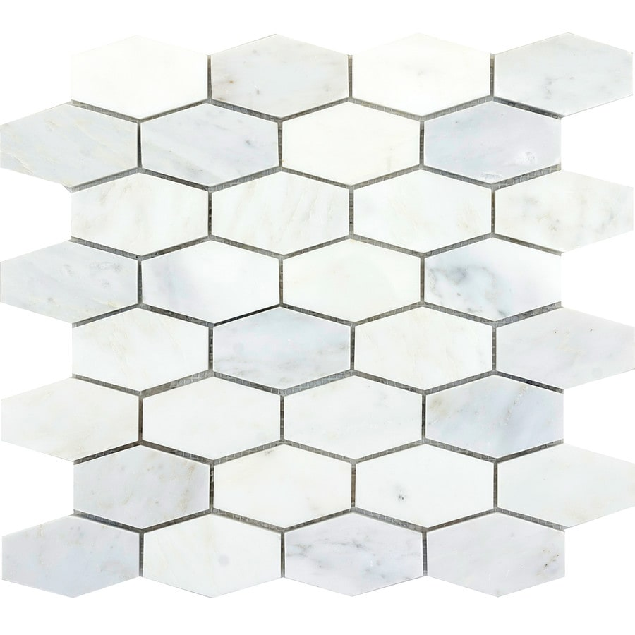 Emser Winter Frost Marble Border Tile (Common: 12-in x 12-in; Actual: 12-in x 12-in)