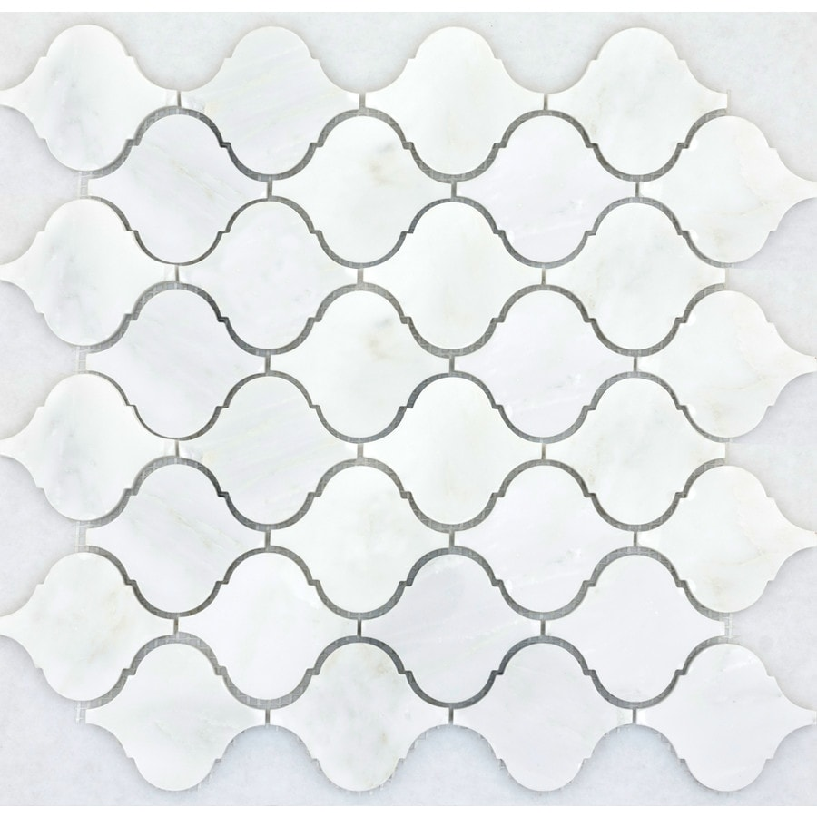 Emser Winter Frost Marble Border Tile (Common: 12-in x 12-in; Actual: 12.01-in x 12.01-in)