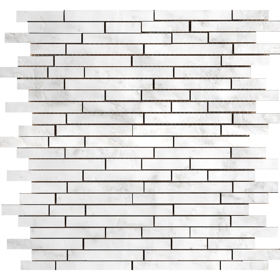 Emser Winter Frost Marble Border Tile (Common: 12-in x 13-in; Actual: 13-in x 12-in)