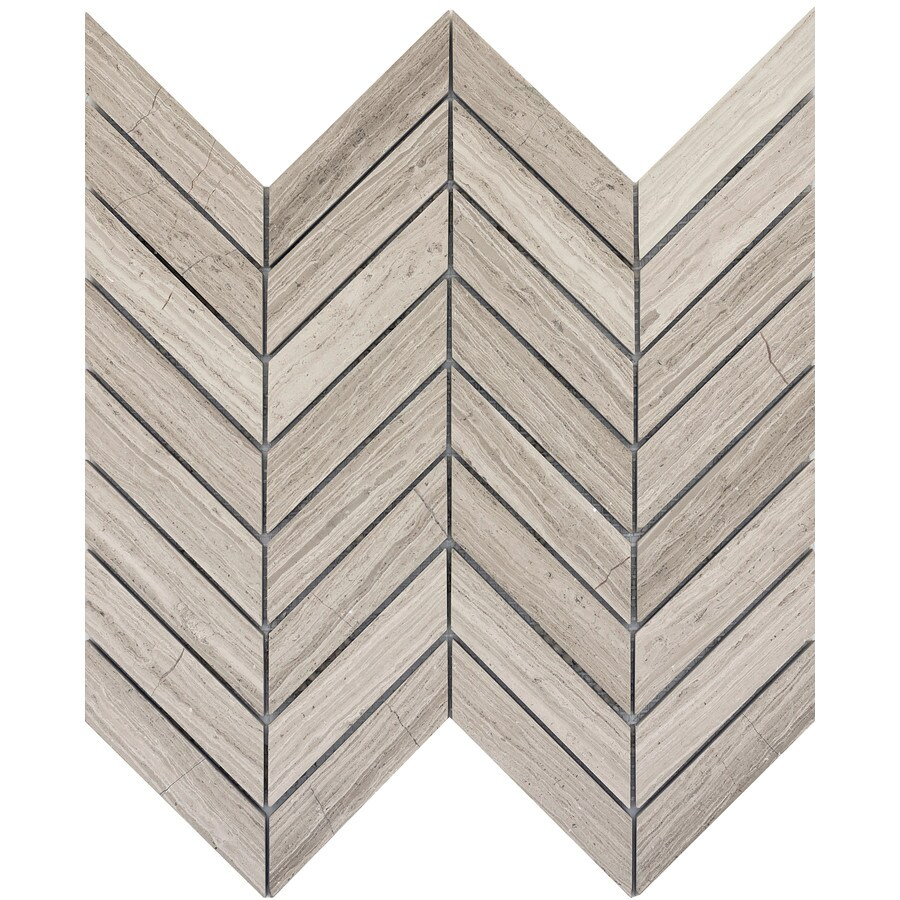 Emser Metro Cream Limestone Border Tile (Common: 12-in x 12-in; Actual: 12.01-in x 12.01-in)