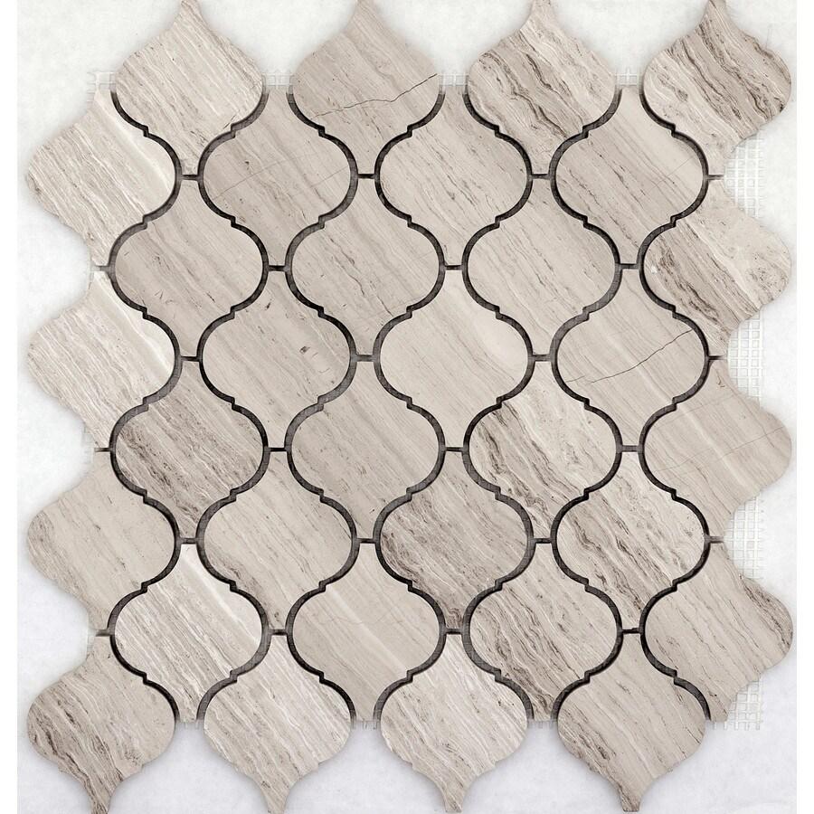 Emser Metro Cream Limestone Border Tile (Common: 12-in x 12-in; Actual: 11.81-in x 11.61-in)