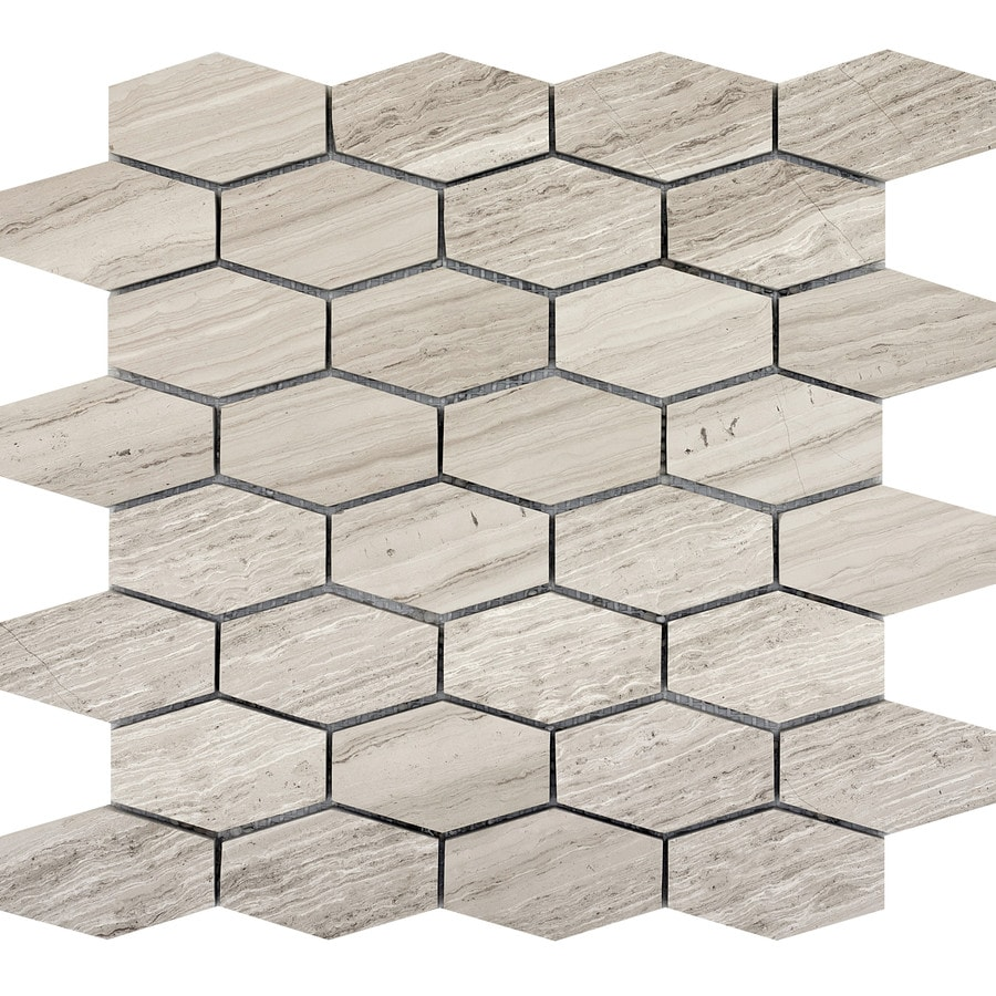Emser Metro Cream Limestone Border Tile (Common: 12-in x 12-in; Actual: 12.01-in x 11.81-in)