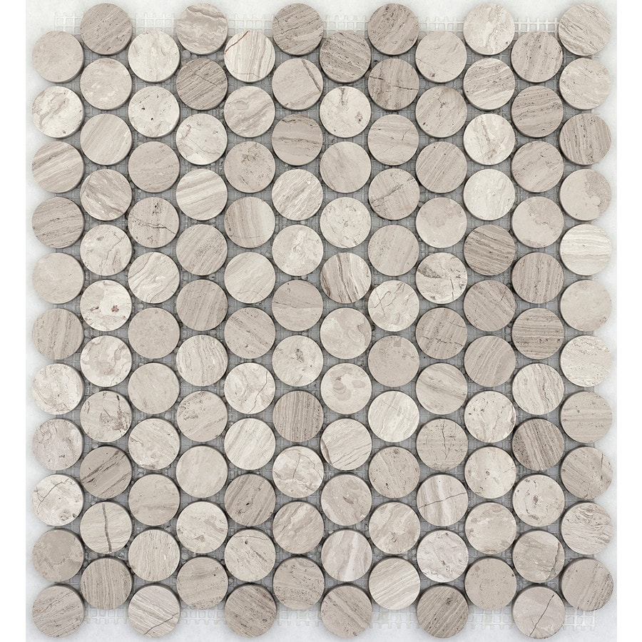 Emser Metro Cream Limestone Border Tile (Common: 12-in x 12-in; Actual: 12.01-in x 11.54-in)