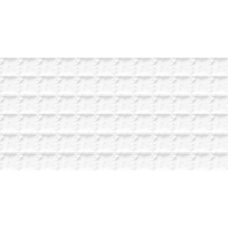Emser SURFACE 8-Pack White Porcelain Wall Tile (Common: 12-in x 24-in; Actual: 23.62-in x 11.73-in)